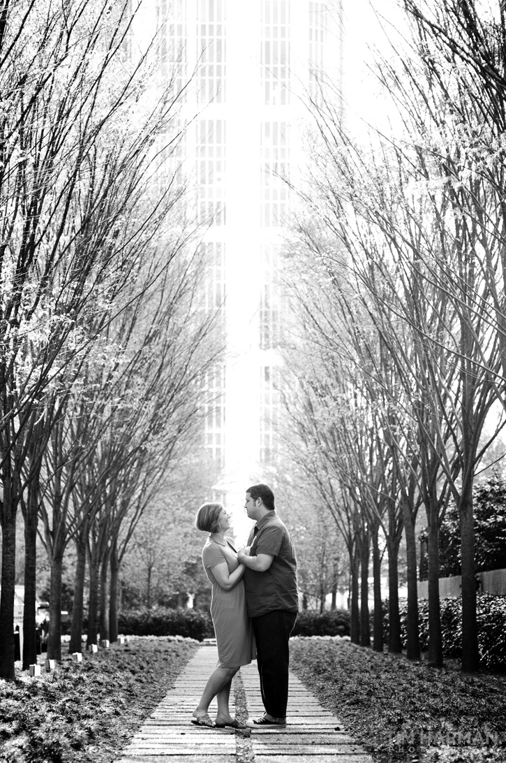 midtown engagement shoot