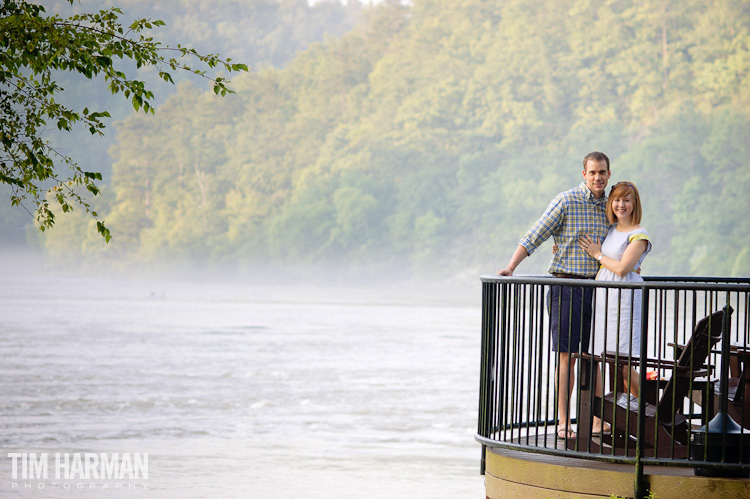 engagement shoot chattahoochee river