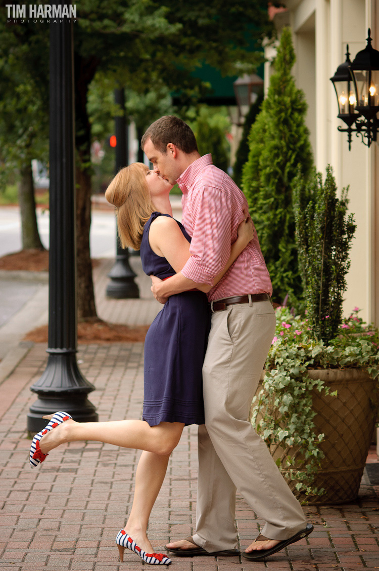 downtown roswell engagement shoot