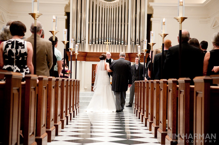 wedding at trinity presbyterian church
