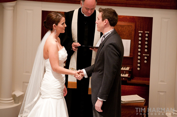 wedding at trinity presbyterian church