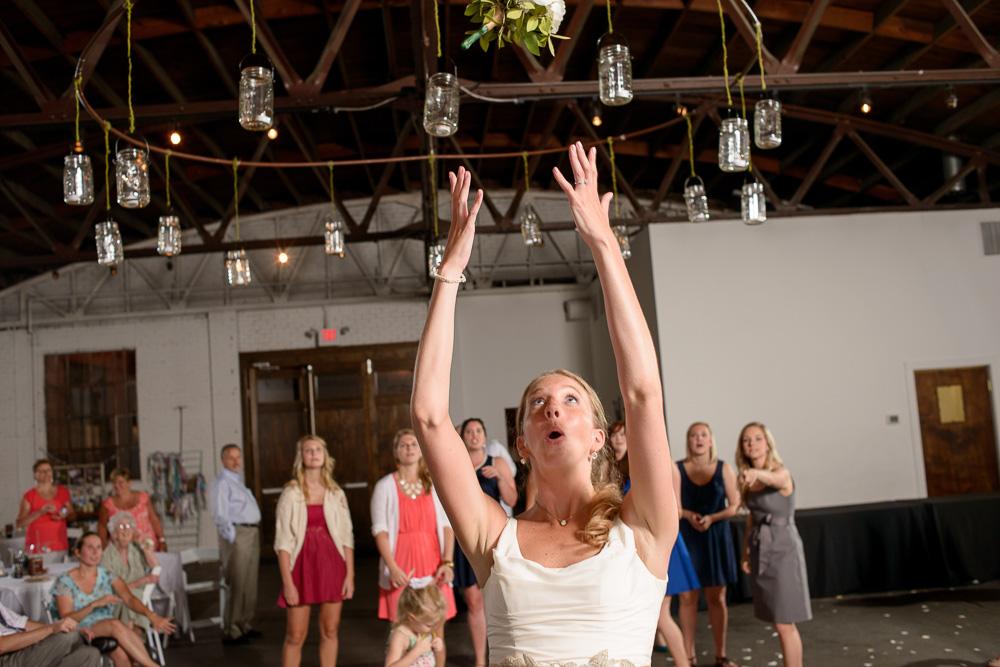 wedding at stonebridge church, reception at brickyard