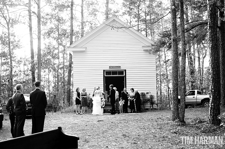 one room rural church wedding
