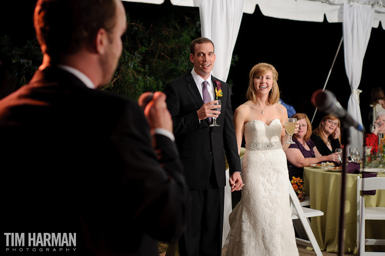 wedding reception at the gardens at great oaks
