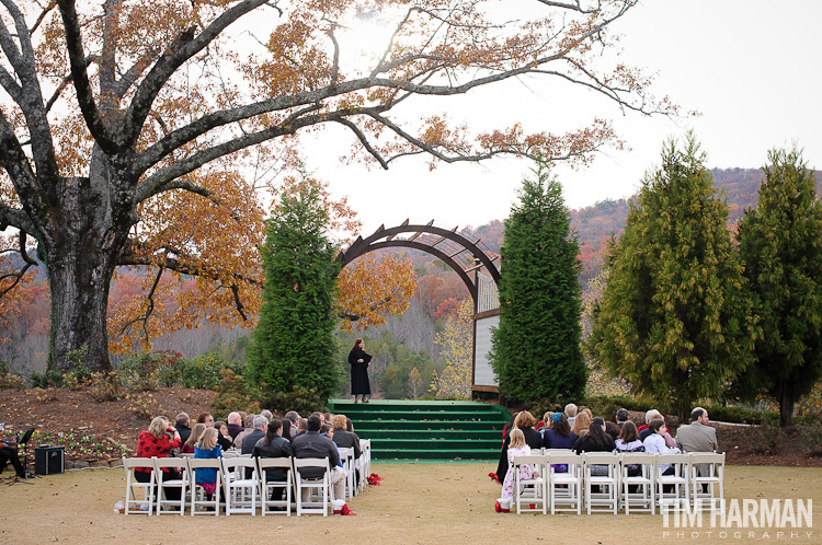 Wedding and Reception at Kingwood Resort in Clayton, GA