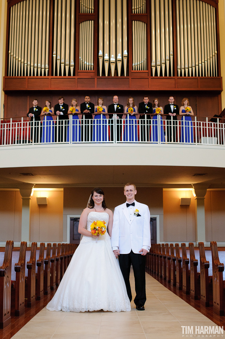 wedding at Midway Presbyterian Church