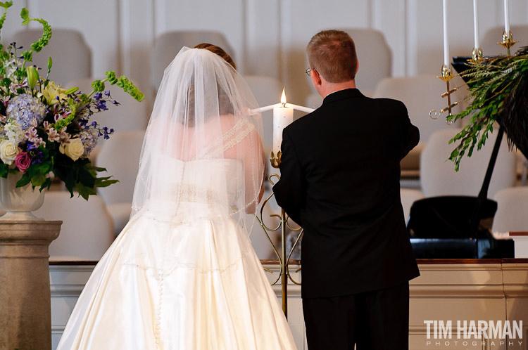 wedding at smoke rise baptist church in stone mountain