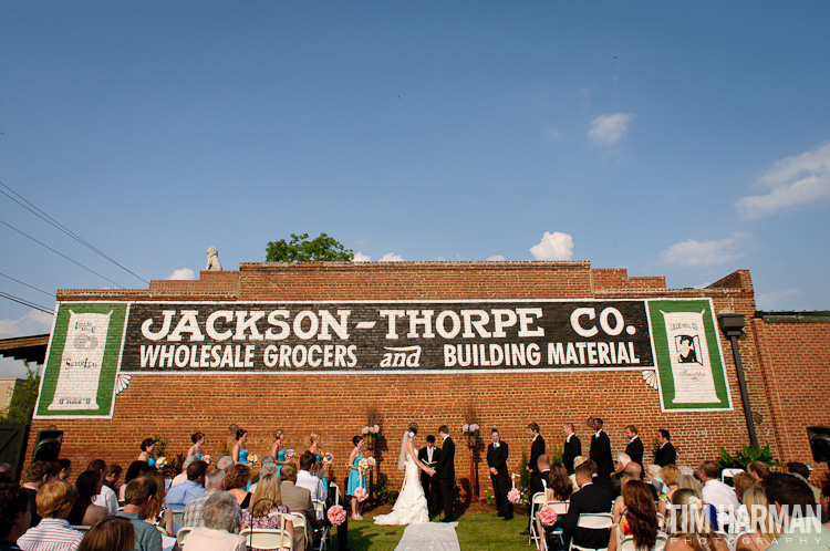 Wedding and reception at The Cotton Warehouse in Monroe, GA