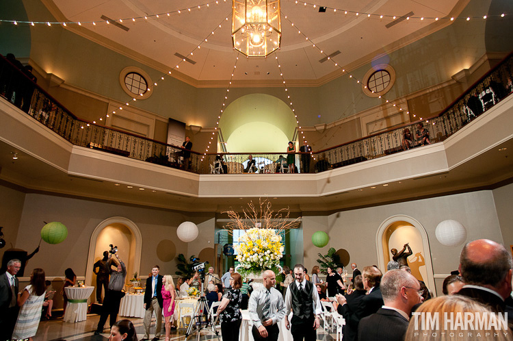 wedding reception at the Augusta Museum of History