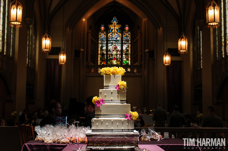 wedding and reception at St. Paul's Presbyterian Church in Atlanta, GA