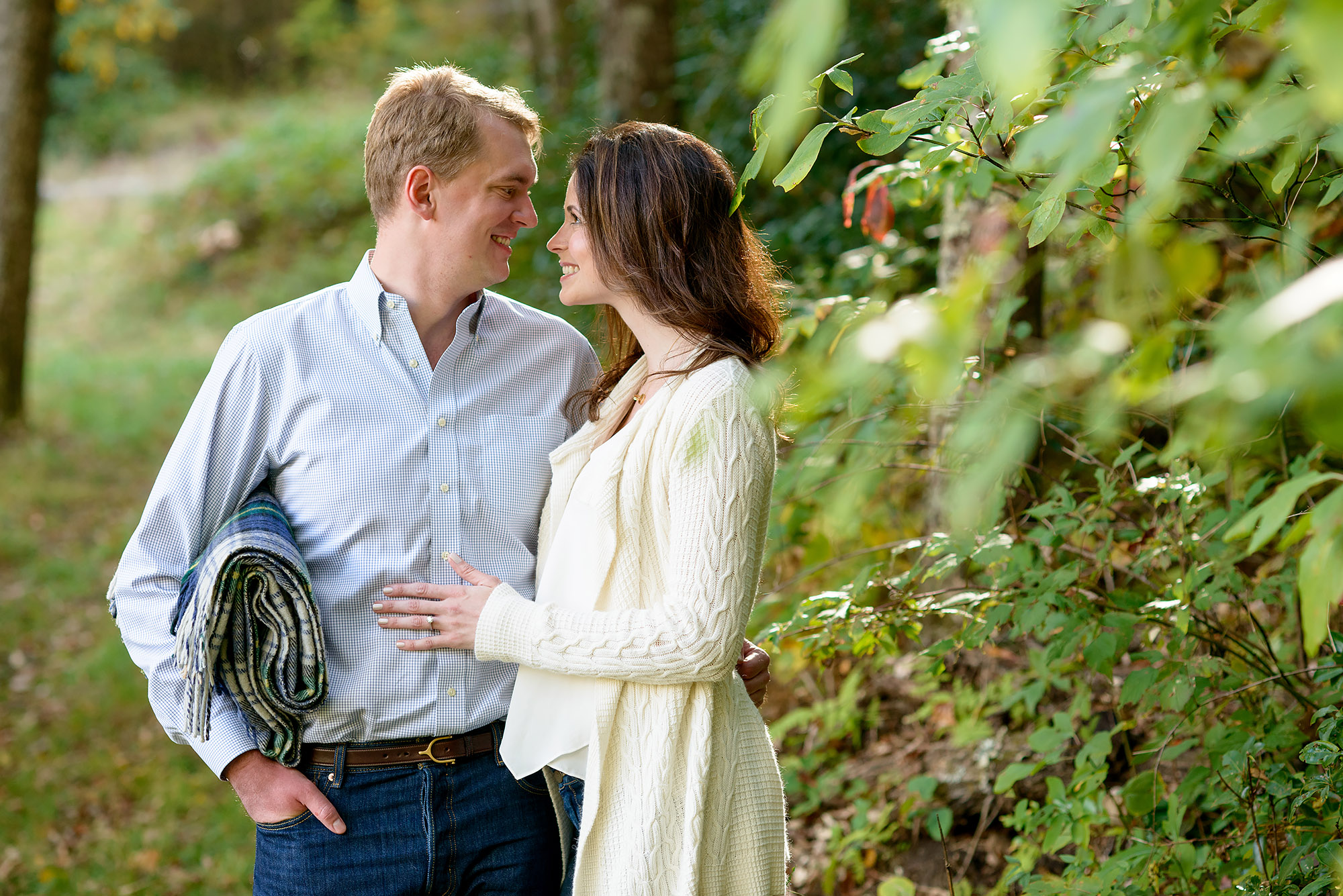 Tayloe and Isabel | Fall Engagement Shoot in Cashiers, NC