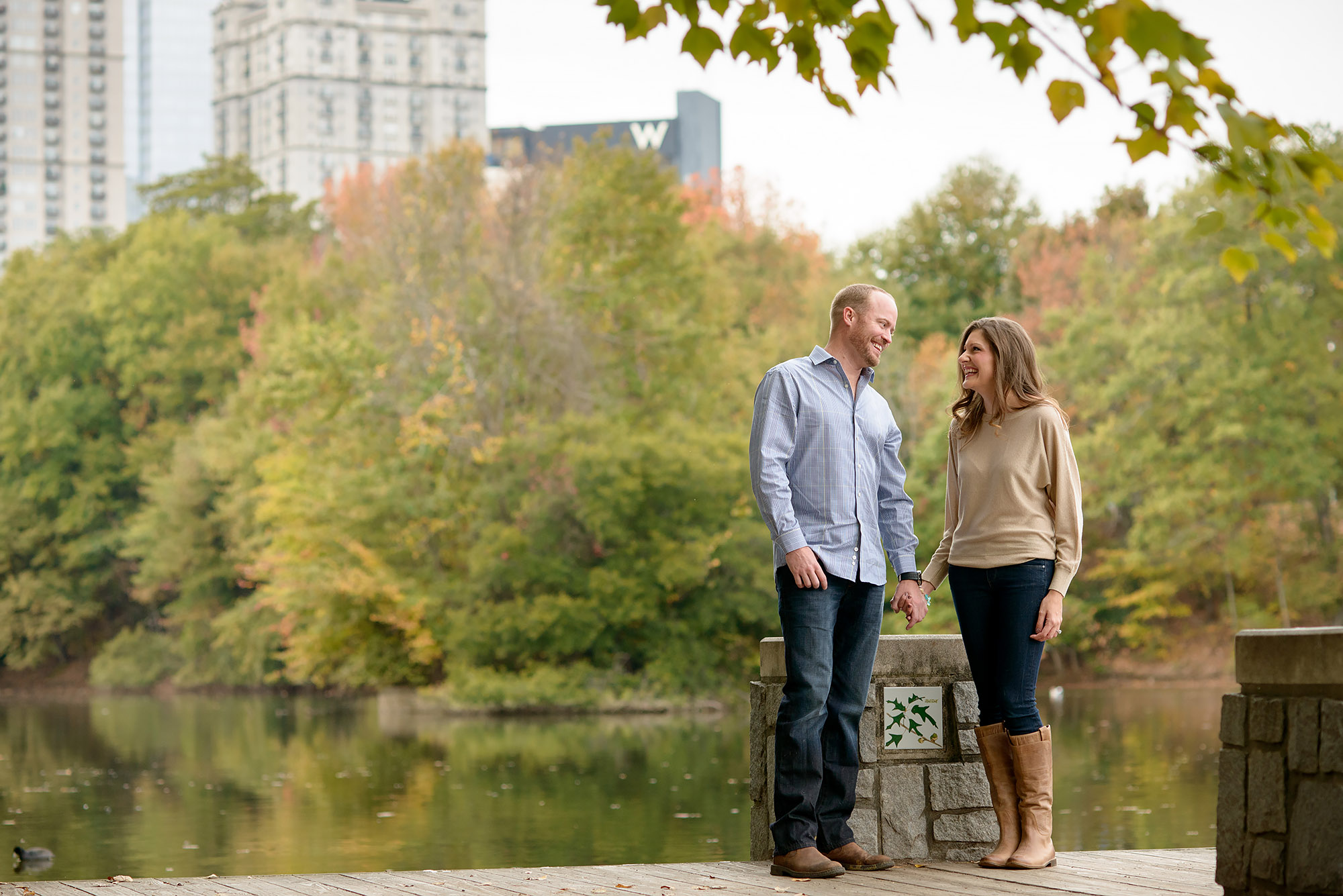 Brett and Georgia | Fall Engagement Shoot at Piedmont Park